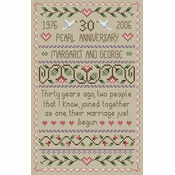 Pearl Wedding Anniversary Cross Stitch Kit