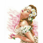 Lady Of The Camellias Cross Stitch Kit
