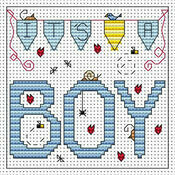 It's A Boy Cross Stitch Card Kit