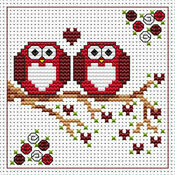 Anniversary Twitts Cross Stitch Card Kit