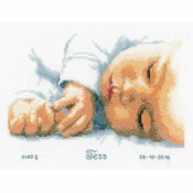 New Born Birth Sampler Cross Stitch Kit