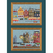 Tram Route & Cycle Lane Set Of 2 Cross Stitch Kits