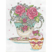 Teacup Roses Cross Stitch Kit