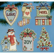 Country Christmas Ornaments Cross Stitch Kit