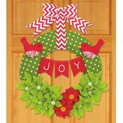 Joy Felt Applique Wreath Kit