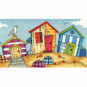 Beach Huts Cross Stitch Kit