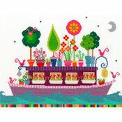 Funky Houseboat Cross Stitch Kit