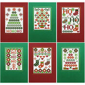 Xmas Ho Ho Ho Cross Stitch Card Kits - Set of 6
