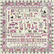 Once Upon A Time Little Girl Cross Stitch Kit