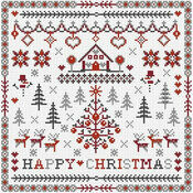 Happy Christmas Cross Stitch Kit