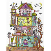 Cut Thru\' Haunted House Cross Stitch Kit
