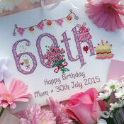 60th Birthday Cross Stitch Kit