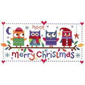 Christmas Owls Cross Stitch Kit