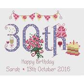 30th Birthday Cross Stitch Kit