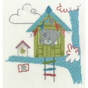 Home Tweet Home Cross Stitch Kit - Tiny Tatty Teddy