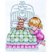 Baby Girl Prayer Cross Stitch Kit