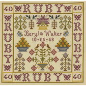 Ruby Anniversary Sampler Cross Stitch Kit