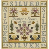 Silver Anniversary Sampler Cross Stitch Kit