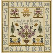 Silver Anniversary Sampler Cross Stitch Kit