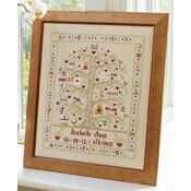 Tree A-Z Girl Birth Sampler Cross Stitch Kit