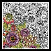 Design Works Bold Floral - Zenbroidery Fabric Pack