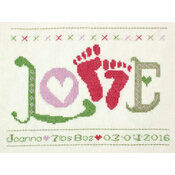 Love Baby Girl StitchKits Cross Stitch Kit