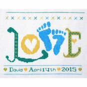 Love Baby Boy StitchKits Cross Stitch Kit