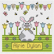 New Baby Bunny Cross Stitch Card Kit