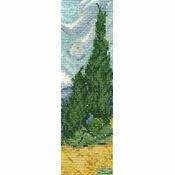 Van Gogh A Wheatfield With Cypresses Bookmark Cross Stitch Kit