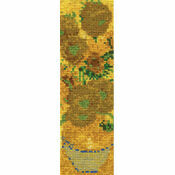 Van Gogh Sunflowers Bookmark Cross Stitch Kit