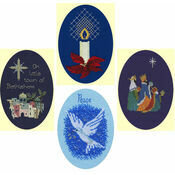 Blue Christmas Collection Set Of 4 Card Kits