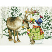 Ornamental Reindeer Cross Stitch Kit