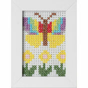 Butterfly Felt Cross Stitch Kit With Frame