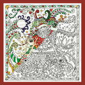 Zenbroidery - Santa\'s Sleigh Fabric Pack