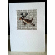 Rudolf The Reindeer Mini Beadwork Embroidery Christmas Card Kit