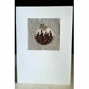 Christmas Pudding Mini Beadwork Embroidery Christmas Card Kit