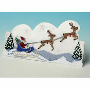 Sleigh Ride 3D Cross Stitch Card Kit