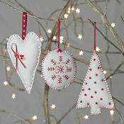 Christmas Trio Felt Decoration Craft Kit