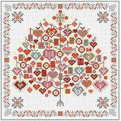 Happy Christmas Tree Cross Stitch Kit