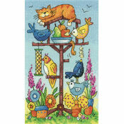 Bird Table (by Karen Carter) Cross Stitch Kit