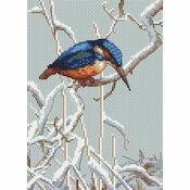 Let It Snow Kingfisher Cross Stitch Kit