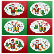 Santa & Rudolf Christmas Card Kits (set of 6)