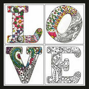Zenbroidery Love Fabric Pack