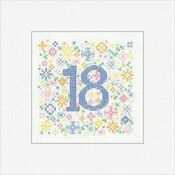 18th Birthday Card Cross Stitch Kit