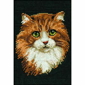 Red Cat Cross Stitch Kit