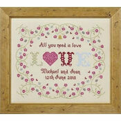 All You Need Is Love Cross Stitch Kit