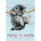 Hang on Kitty Cross Stitch Kit