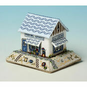 Making Waves Seaside Shop 3D Cross Stitch Kit