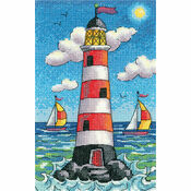 Lighthouse By Day Cross Stitch Kit