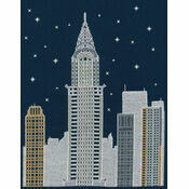 New York By Night Glow In The Dark Cross Stitch Kit